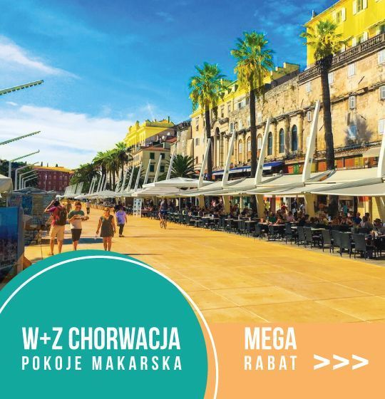 W+Z Chorwacja Pokoje Makarska // MEGA RABAT >>>  Sprawdź  >>>