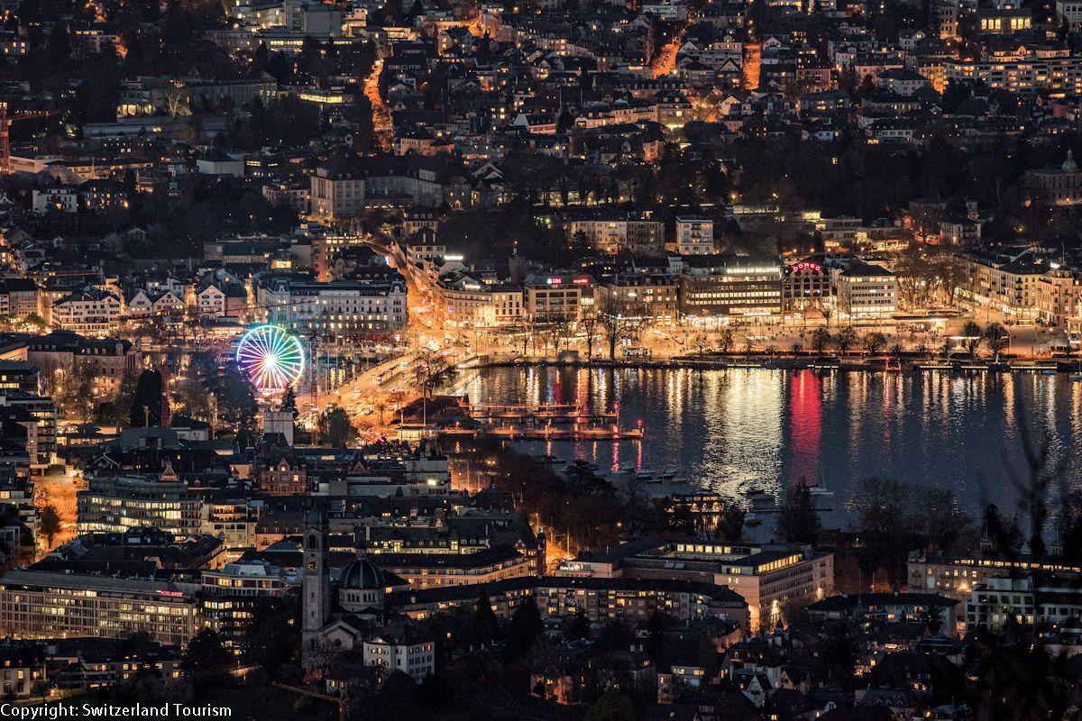 Switzerland Cities: Zuerich, Quaibruecke