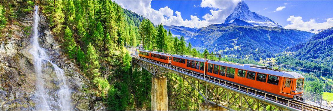Szwajcaria - koleje retyckie