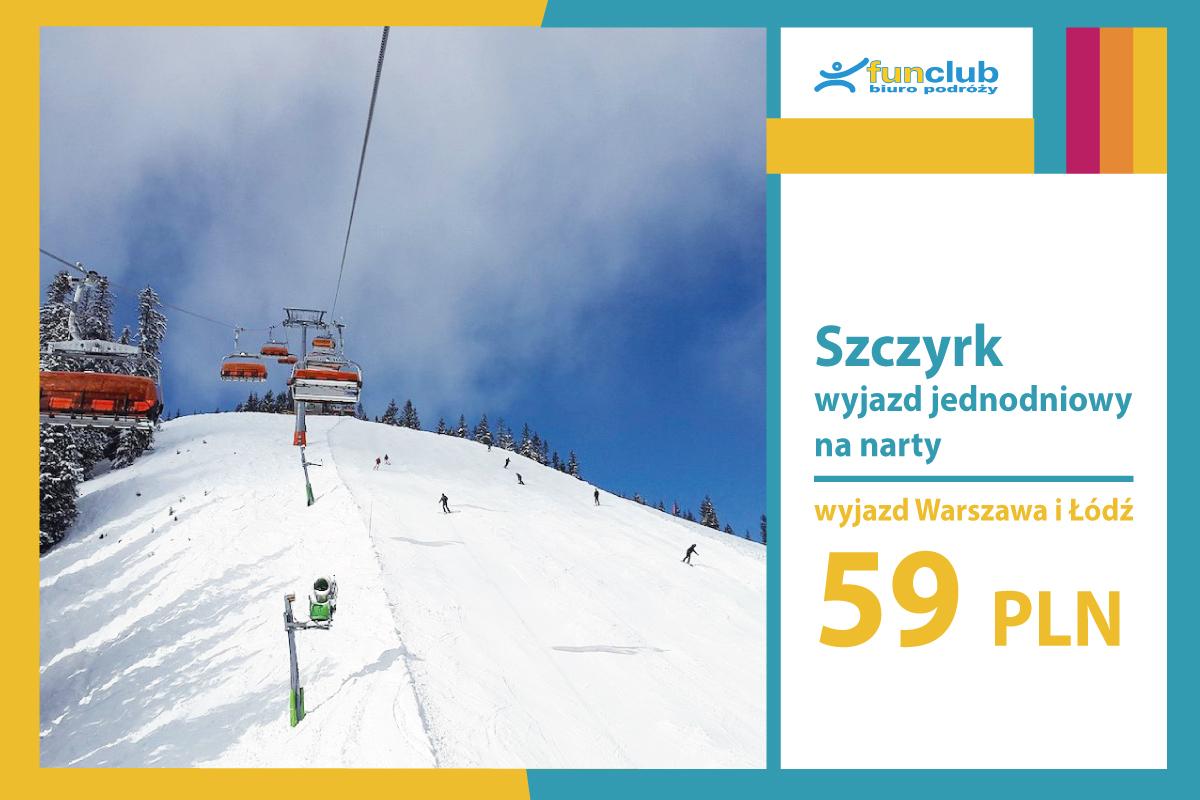 Szczyrk wyjazd jednodniowy na narty